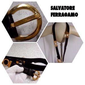 AUTH SALVATORE FERRAGAMO BELT